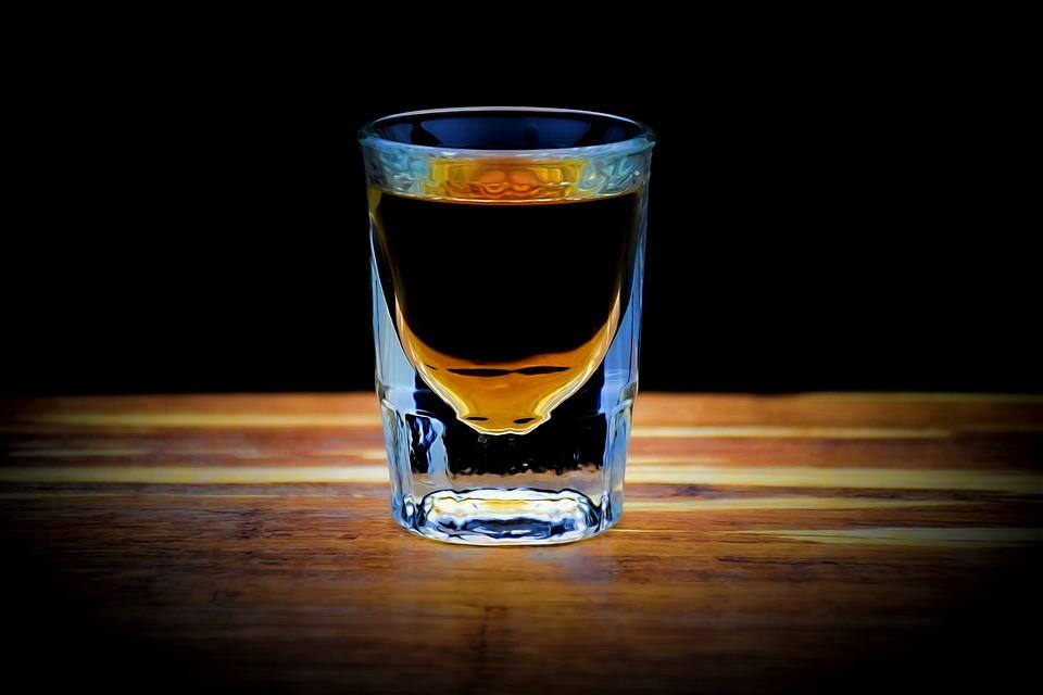 Lit Whiskey Shot, Shot, Drink, Bar, Alcohol, Beverage