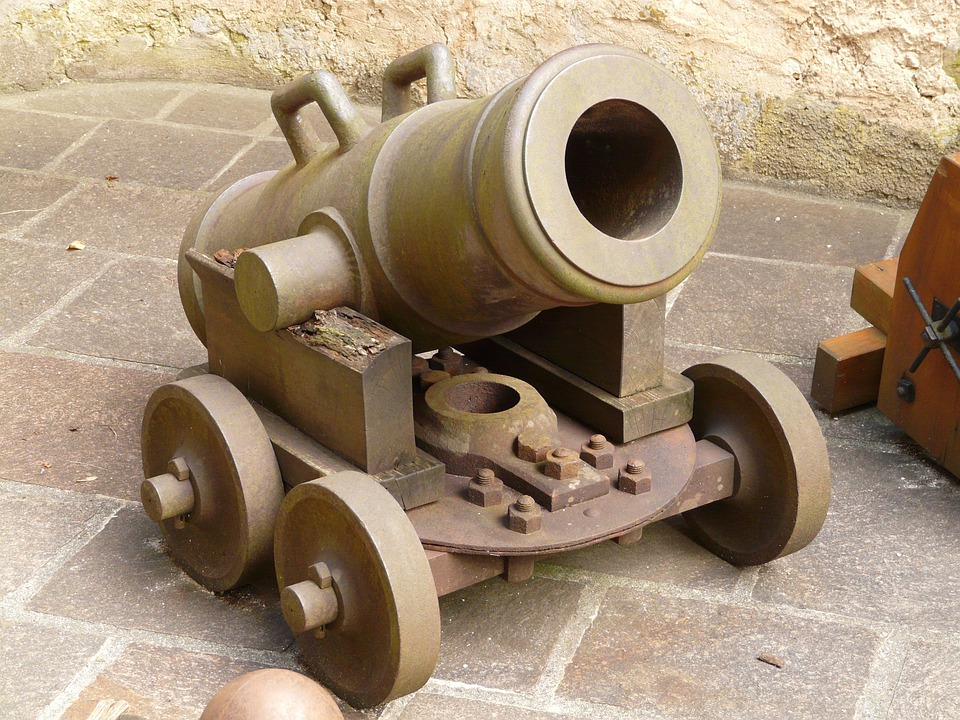 Gun, Mortar, Weapon, Shot, Lichtenstein