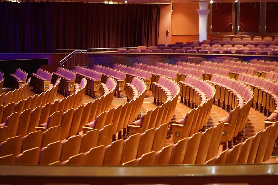 Auditorium, Stage, Seating, Empty, Show, Audience