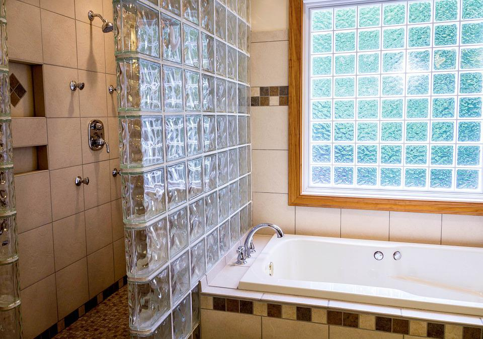 Free photo Shower Glass Blocks Tub Ceramic Tile Bathroom - Max Pixel