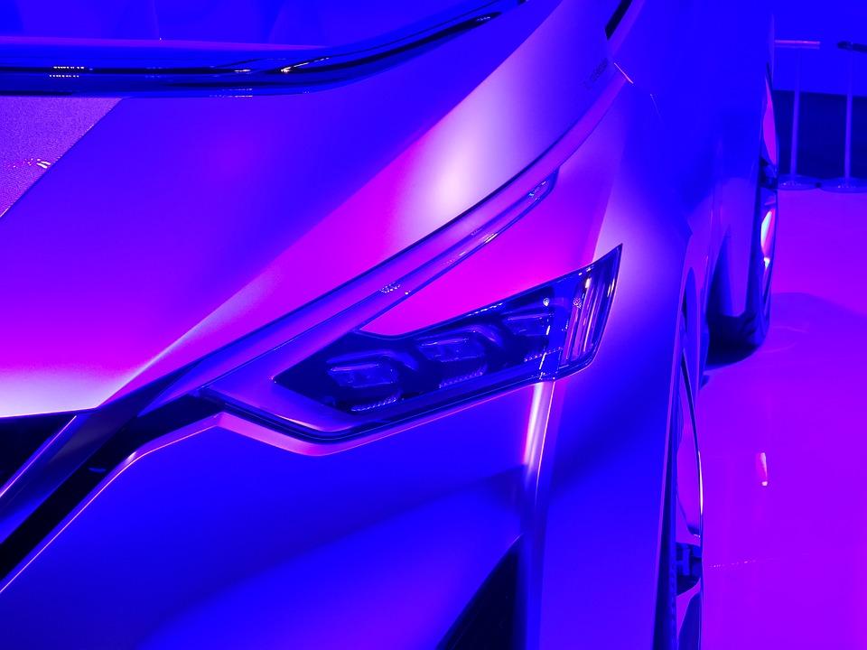 Nissan, Car, Design, Purple, Showroom, Vehicle