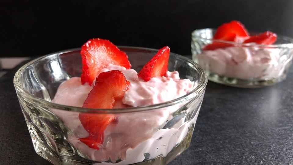 Strawberry, Shrikhand, Dessert, Sweet, Fruit, Diwali