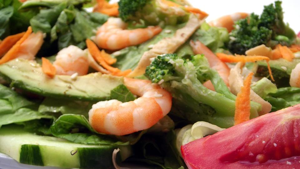 Shrimp, Premium, Salad, Food, Plate, Meal, Cuisine