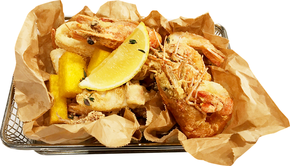 Food, Fried Dishes, Shrimp Tempura, Crunchy Fries