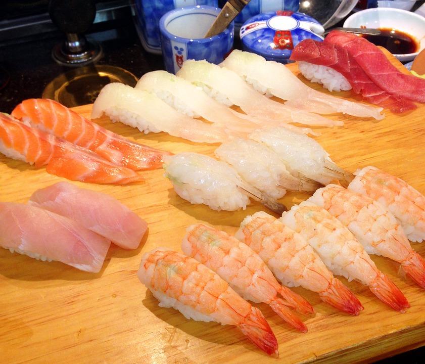 Sushi, Japanese, Salmon, Time, Fish, Shrimp, Light Air