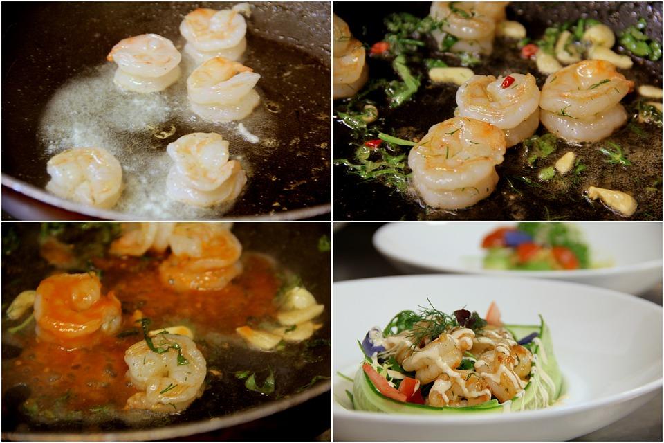 Shrimps, Salad, Food, Healthy, Fresh, Seafood, Shrimp