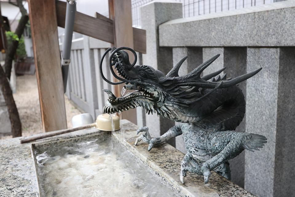 Shrine, Tokyo, Dragon