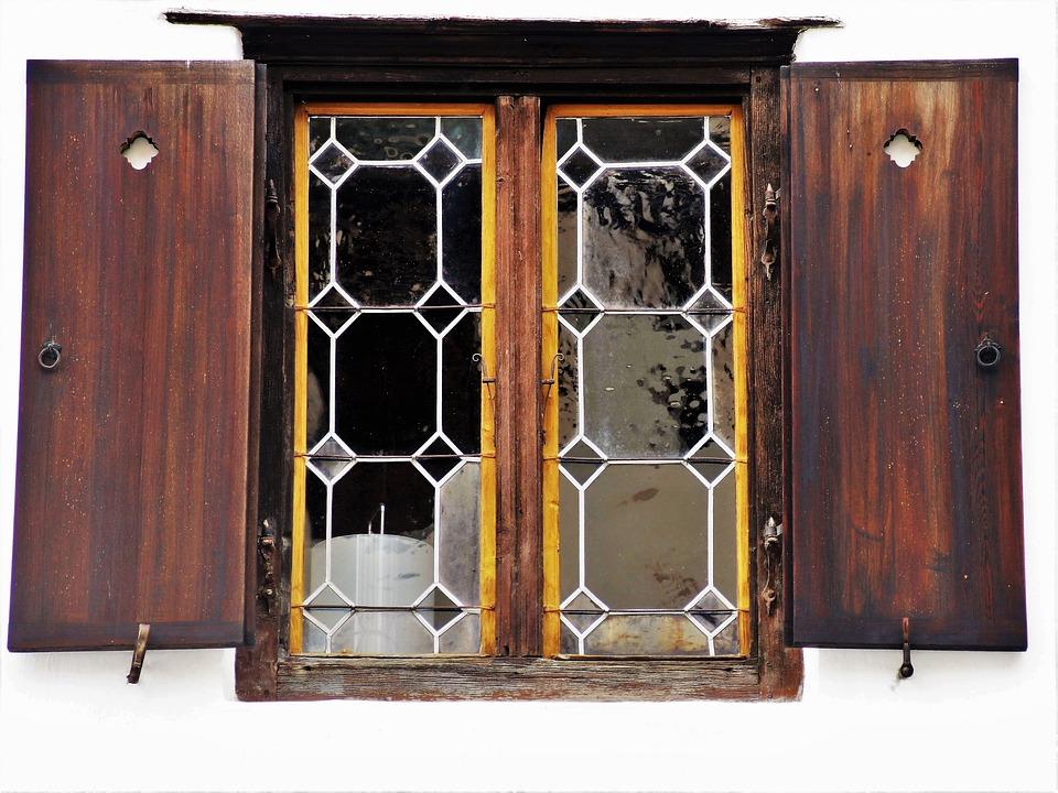 Window, Shutters, Pane, Wooden, Outside, Antique