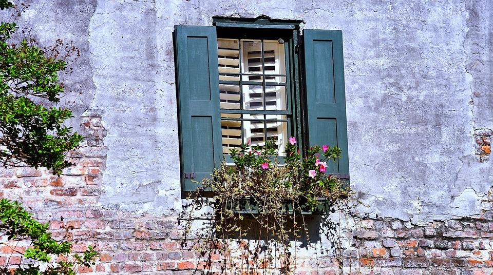 Shutters, Blinds, Windows, Window, Building, Wall