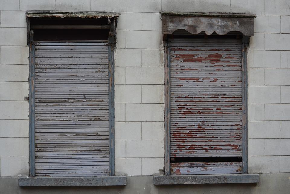 Shutters, Dilapidated Building