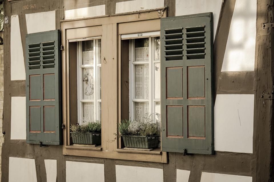 Window, Truss, Fachwerkhaus, Shutters, Home, Building