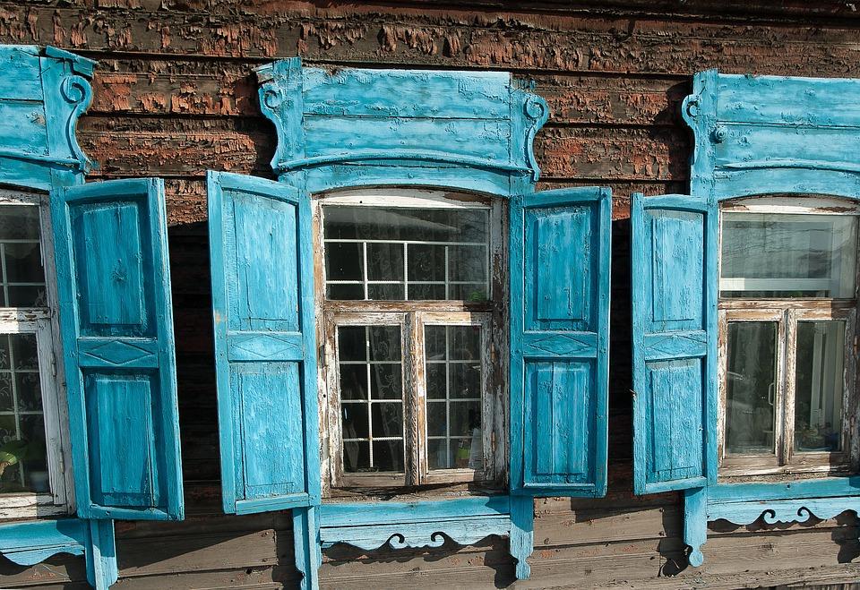 Irkutsk, Shutters, Architecture