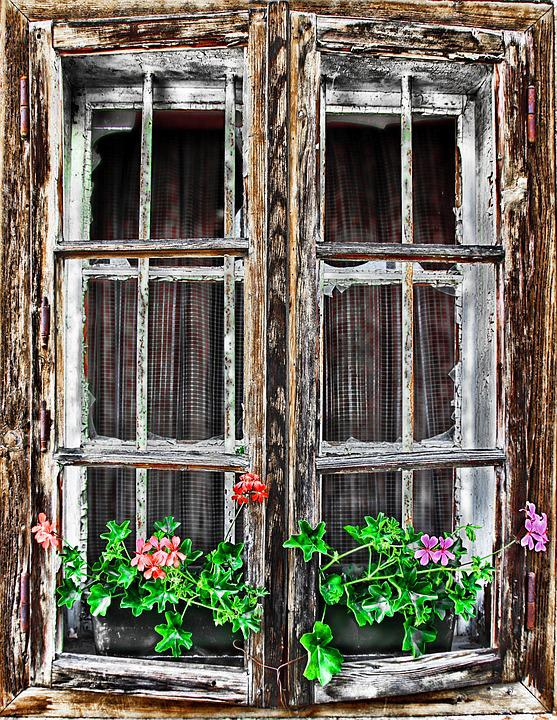 Window, Home, Rustic, Building, Shutters, Old Building