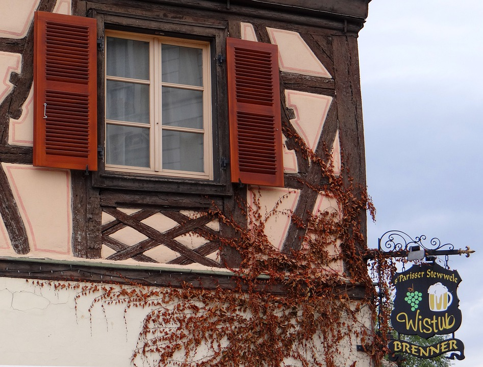 Window, Shutters, Truss, Old Town, Historically, Home
