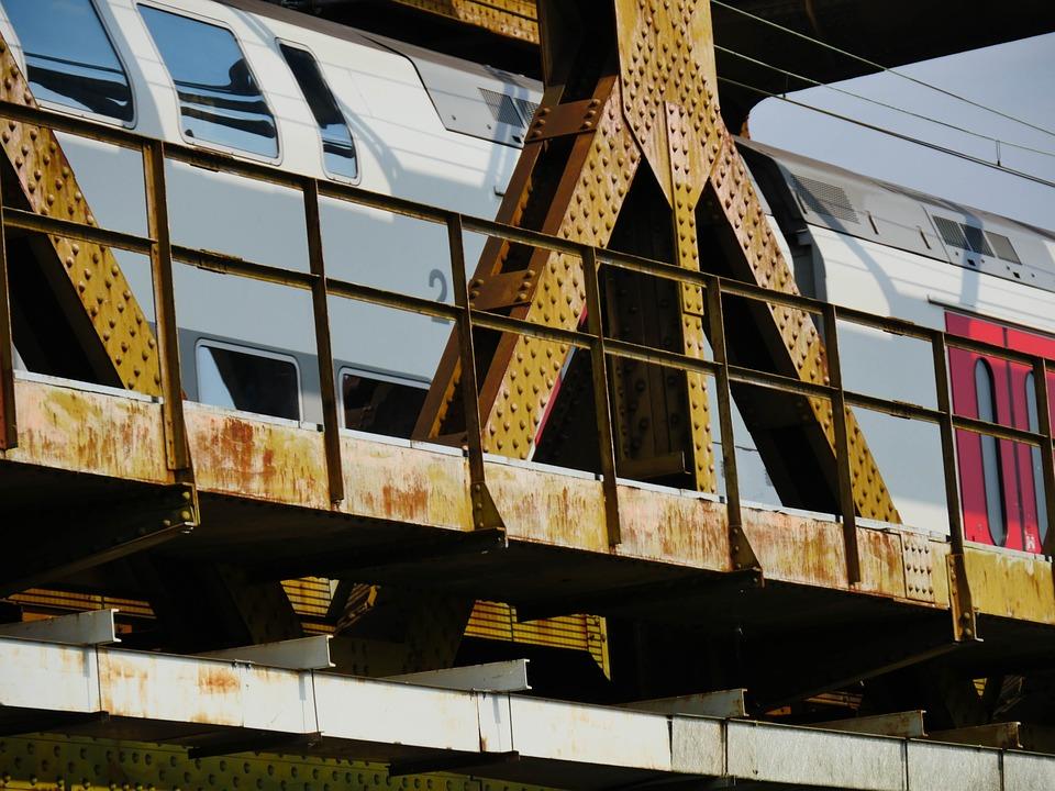 Bridge, Train, Travel, Sncb, Mons, Shuttle, Steel, Iron