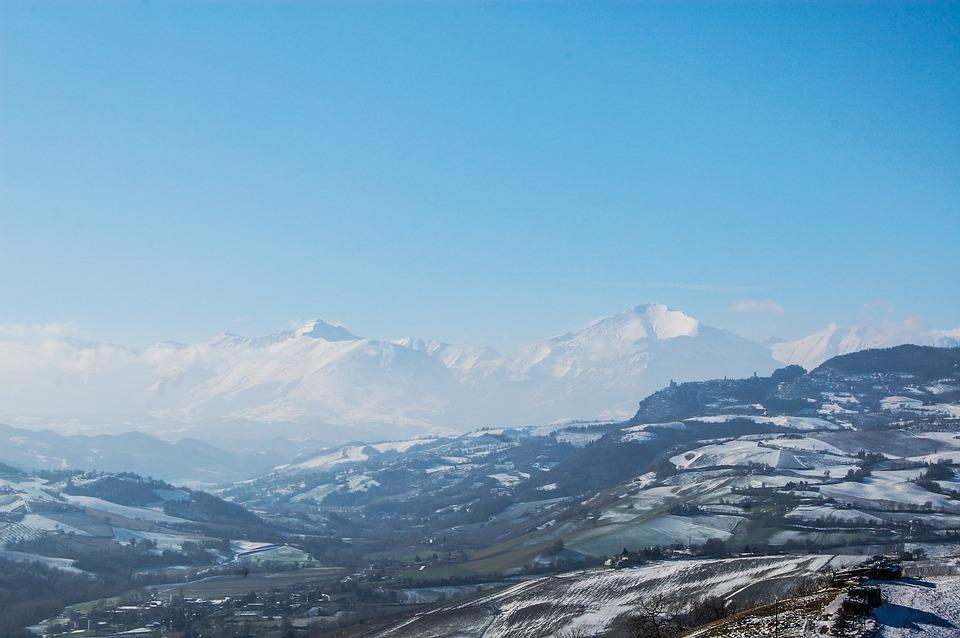 Sibillini, Snow, Winter, Upstream, Sky, Landscape