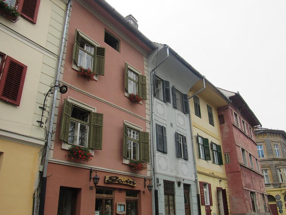 Sibiu, Transylvania, Romania, Old Buildings