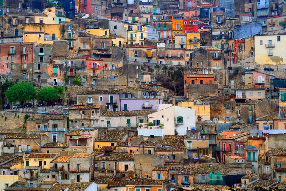 Sicily, Italy, Texture, City, Sicilian, Building, Old