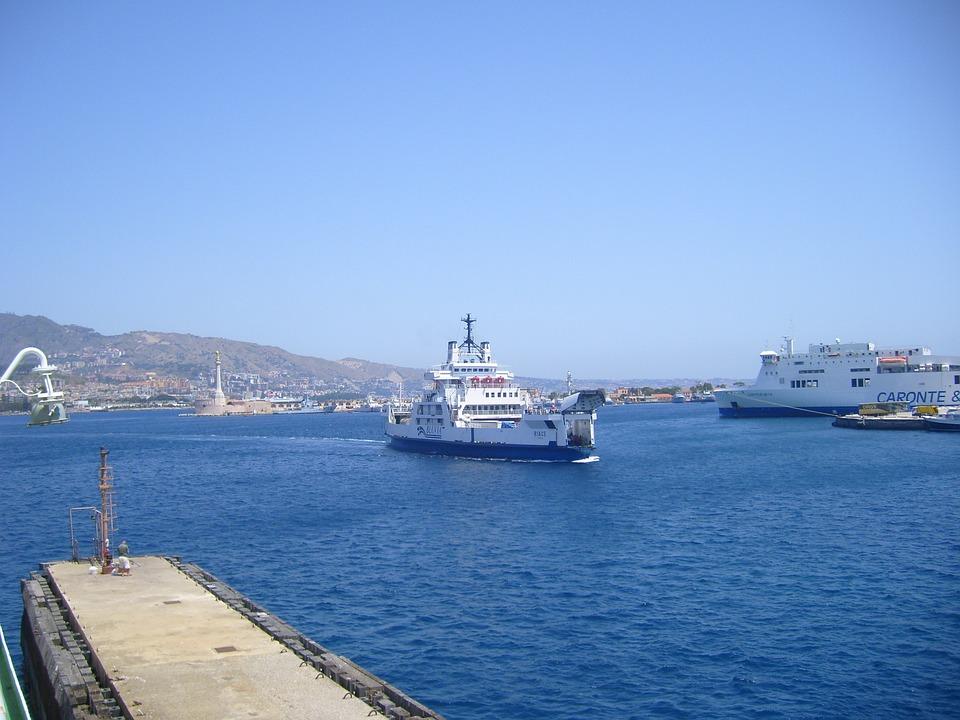 Ferry, Sicily Strait, Messina, Sicily
