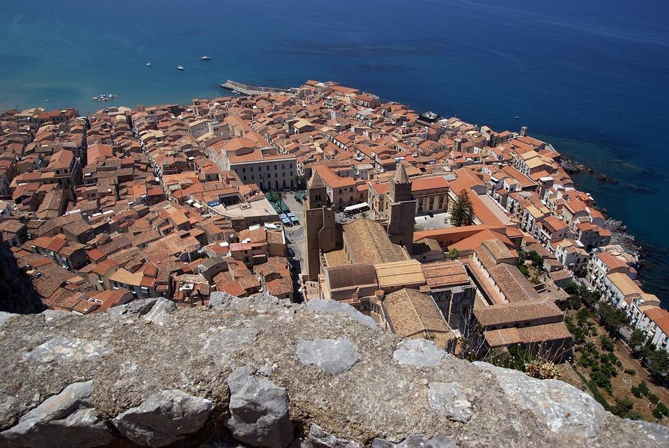 Cefalu, Sicily, Sicilia, Italy, Italia, Sea, The Coast