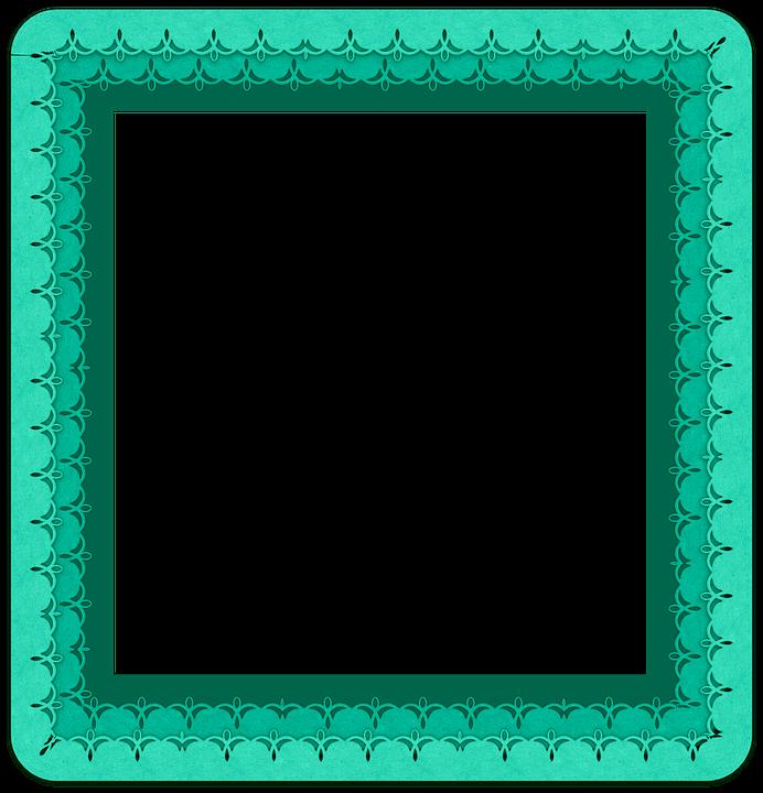 Frame, Ribbon, Side, Scrapbook, Color, Green, Element