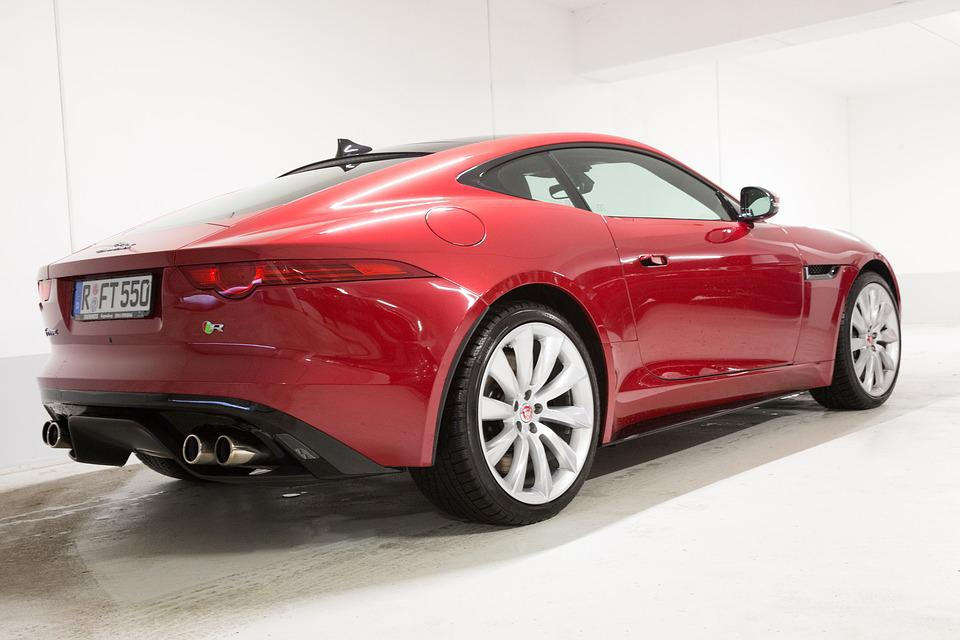 Jaguar, F Type, Coupe, Red, Side, Rear