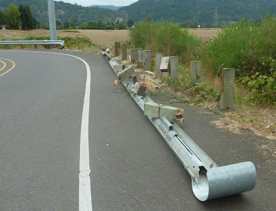 Crash Barrier, Guardrail, Guard Railing, Side Rail