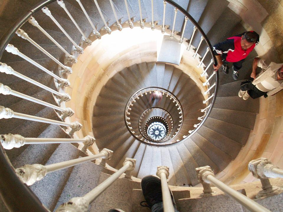 Staircase, Lighthouse, It Re, Side, France, Atlantic