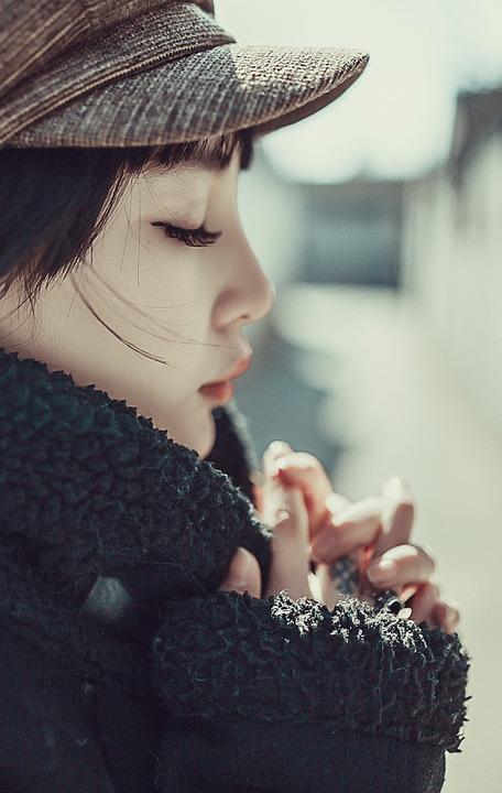 Woman, Side View, Prayer, Beijing Beauty, Beauty