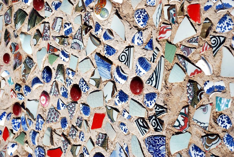 Sidewalk, Porcelain, Pottery, Chips, Decoration, Art