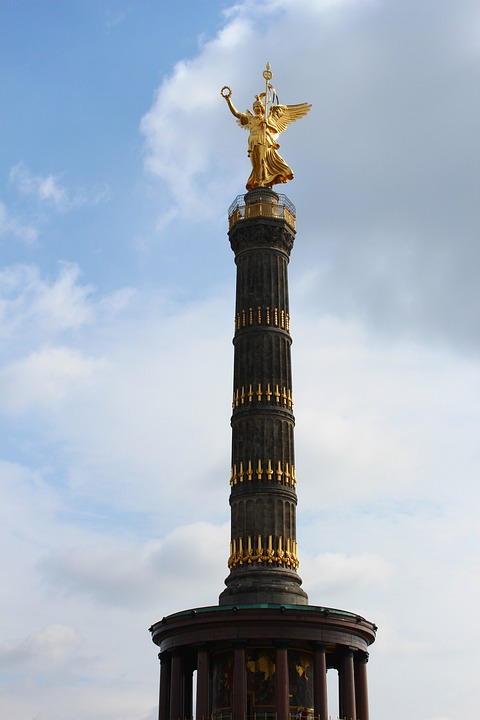 Siegessäule, Berlin, Landmark, Sky, Clouds