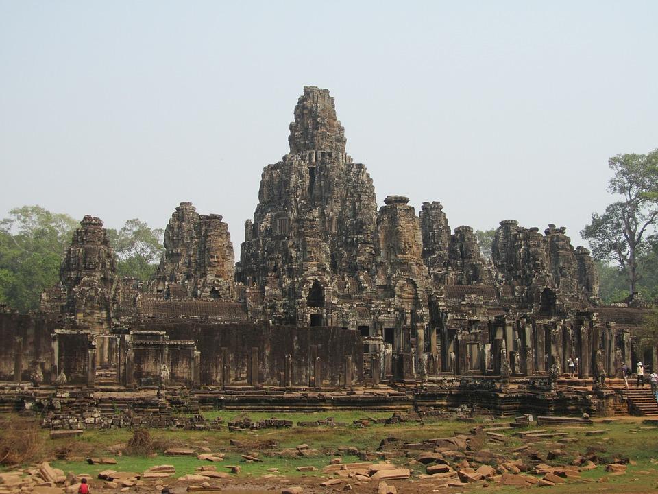 Cambodia, Siem Reap, Angkor Thom, Bayon, Temple
