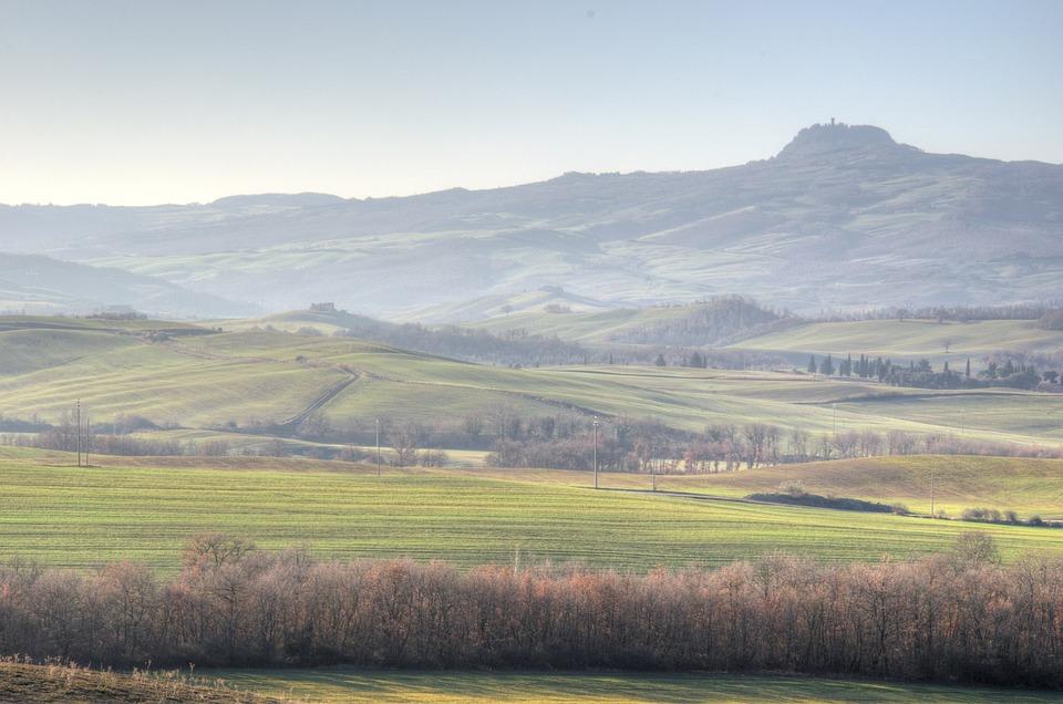 Tuscany, Val, D'orcia, Italy, Radicofani, Siena, Rural