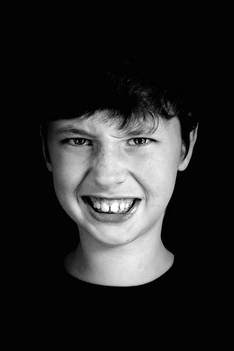 Boy, Teen, Anger, Teeth, Emotions, Malice, Sight