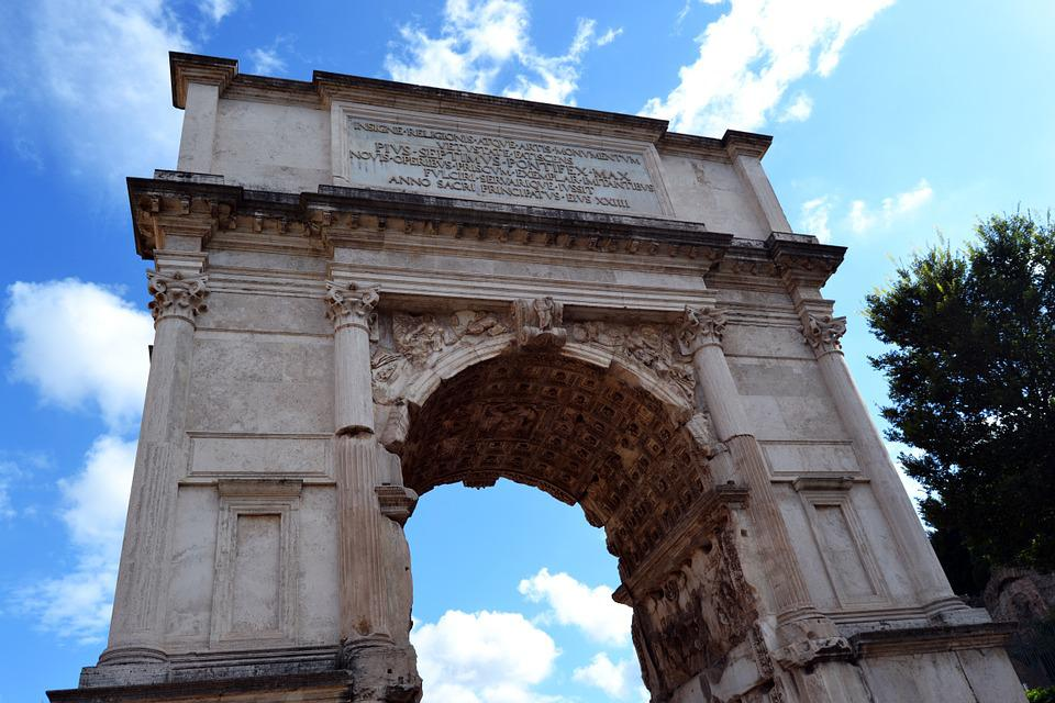Arch Of Titus, Square, Rome, Sights, Italy