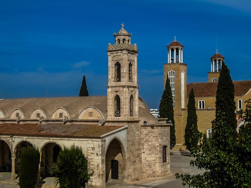 Cyprus, Paralimni, Cathedral, Square, Sightseeing