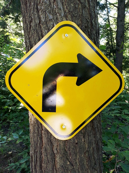 Arrow, Right, Turns, Symbols, Sign, Boards, Yellow