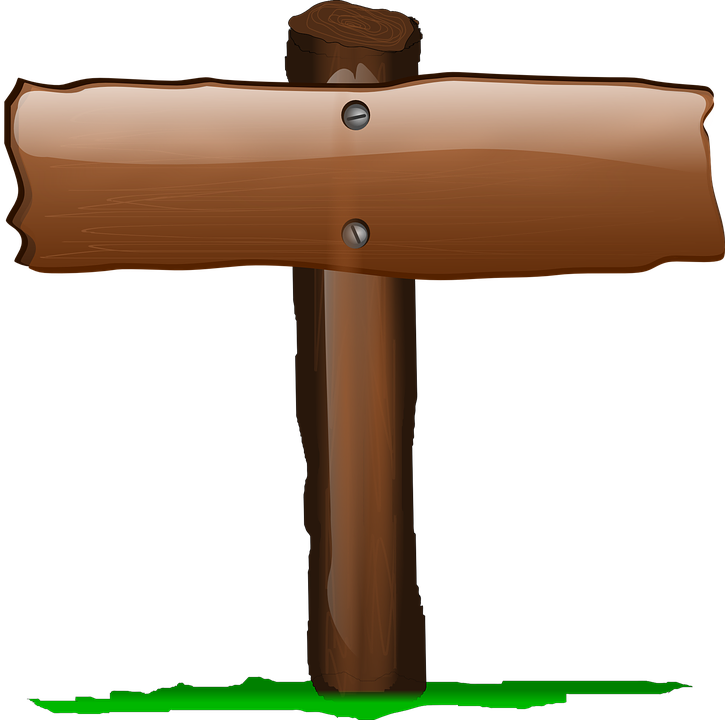 Sign, Signpost, Label, Brown, Wood, Glossy