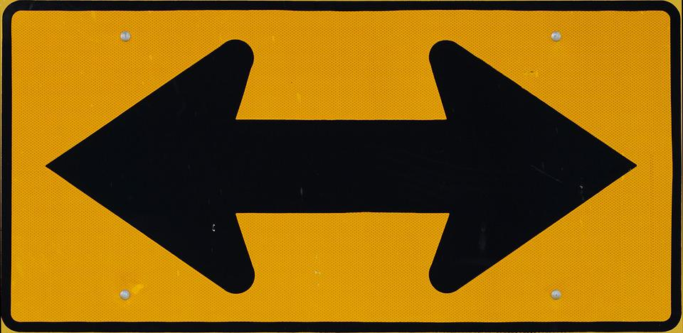 Sign, One-way, Two-way, Direction, Road Sign, Traffic
