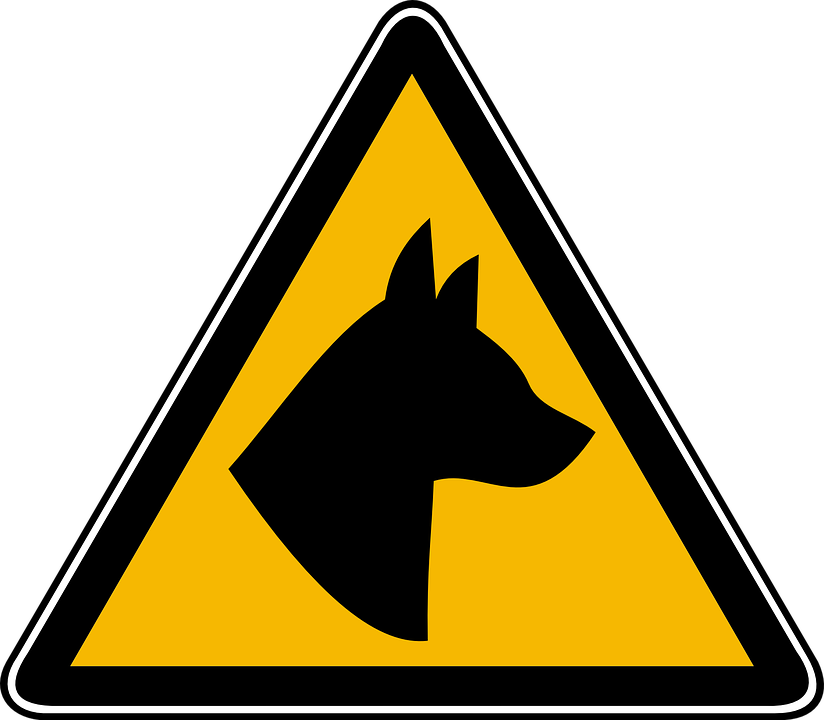Caution, Dogs, Sign, Attention