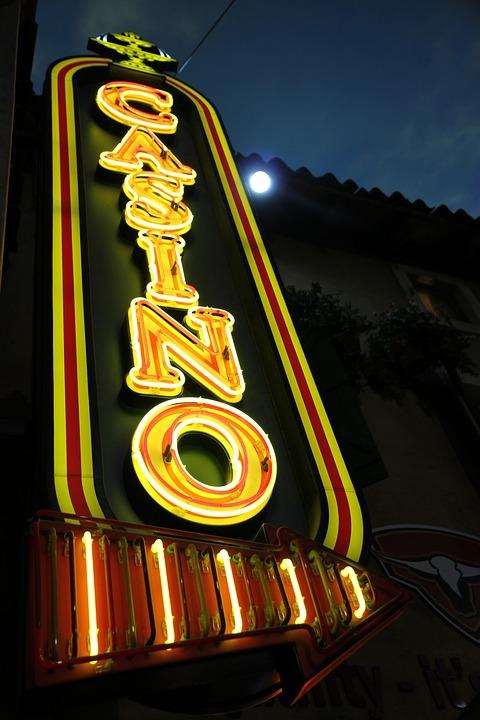 Casino, Neon, Entertainment, Sign, Light, Advertising
