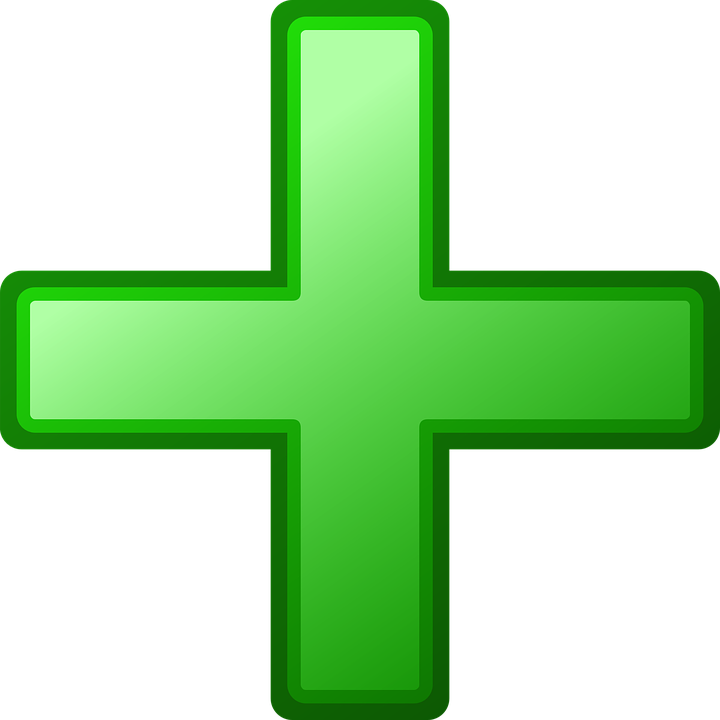 Plus, Green, Add, Adding, Positive, Symbol, Sign, Icon