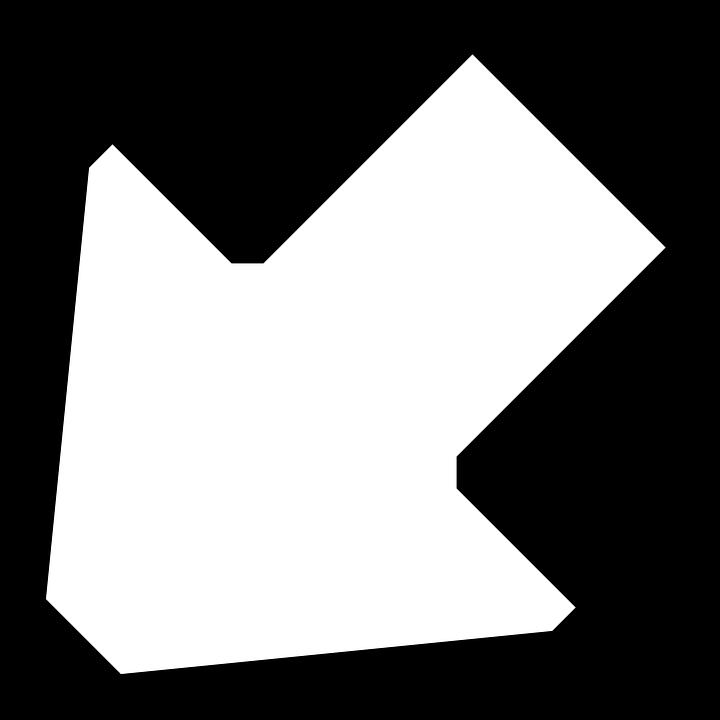 Arrow, Left, Down, Sign, Symbol, Icon