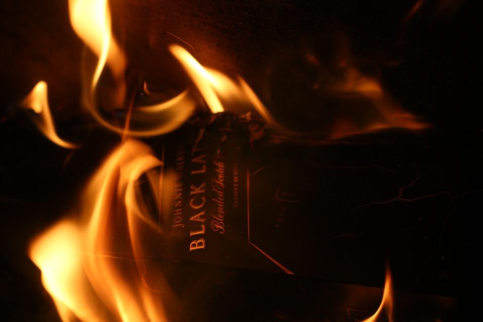 Back Label, Box, Fire, Label, Symbol, Sign, Empty, Fame