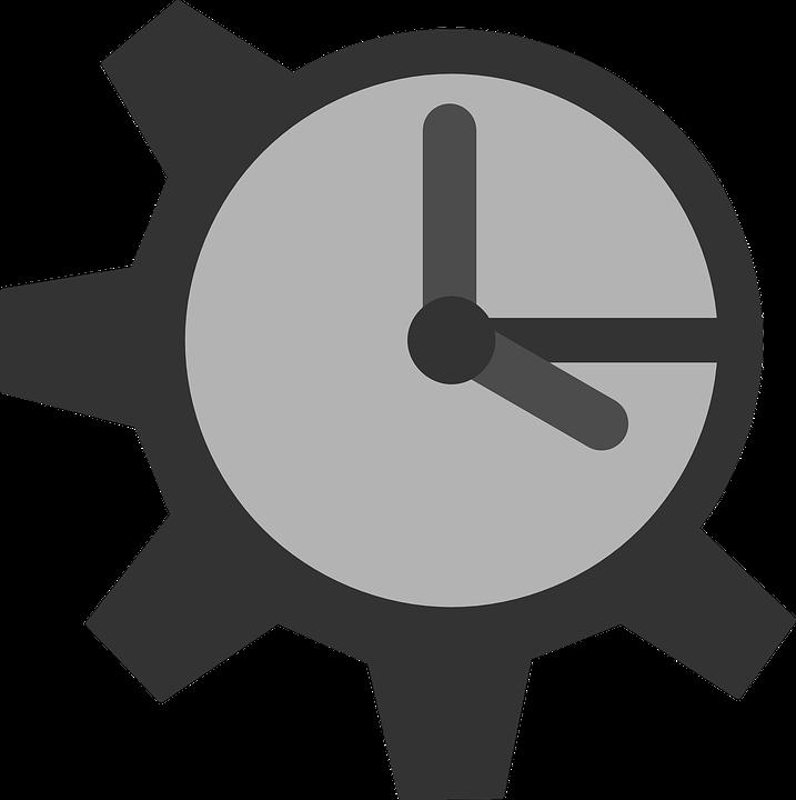 Gear, Clock, Mechanism, Sign, Symbol, Gray Clock