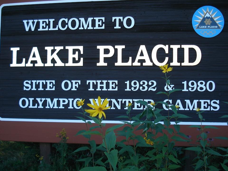 Lake Placid, Sign, Usa, Sports, Olympics, Ski