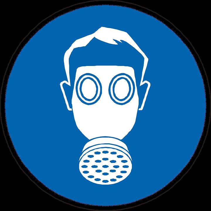 Gas Mask, Mandatory, Wear, Protection, Sign, Symbol