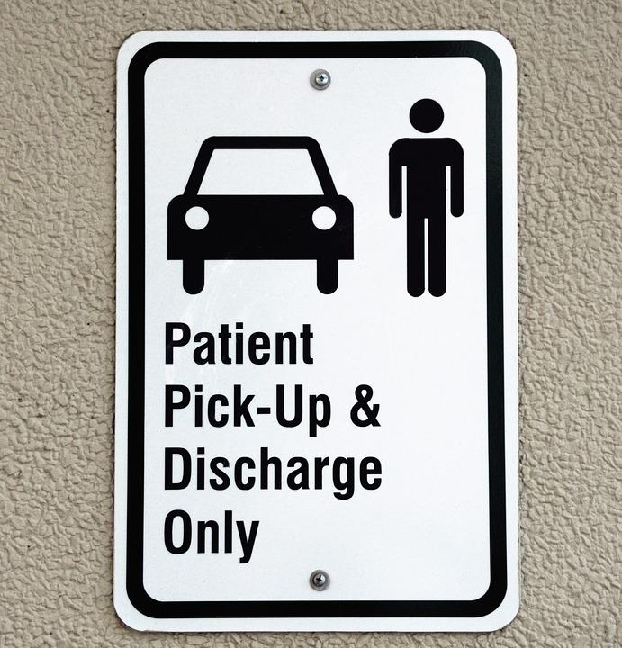 Patient Pickup Sign, Symbol, Hospital, Sign, Signage