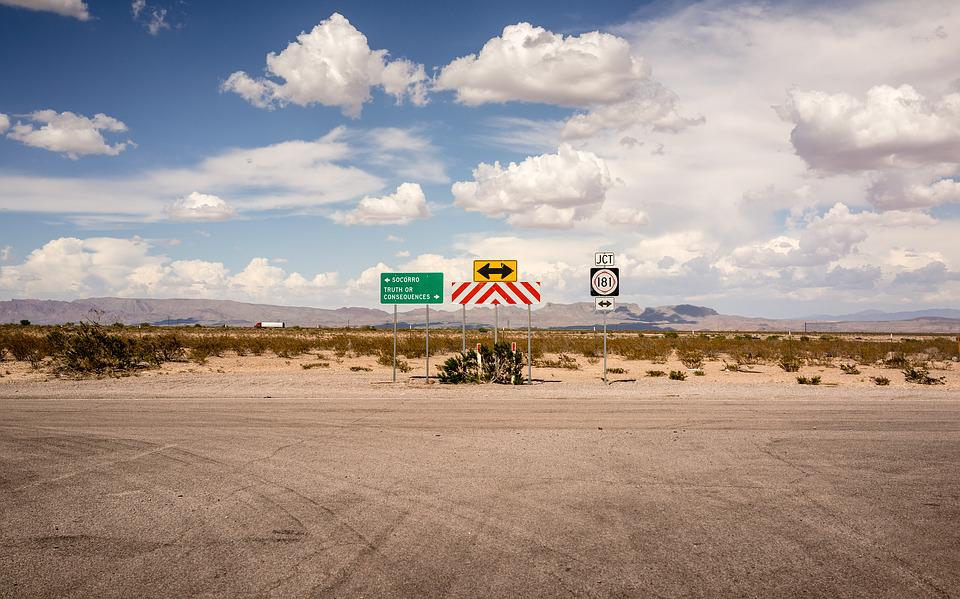 Clouds, Mountain, Road, Signs, Sky, Travel, Brown Sky