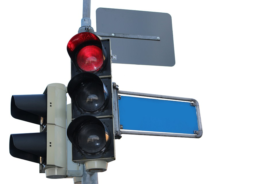 Traffic Lights, Red, Traffic Signal, Street Name, Signs